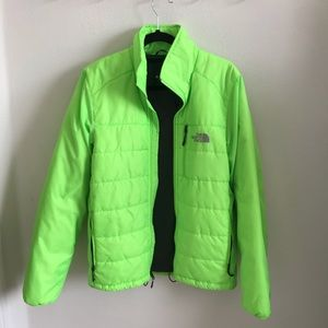 Neon North Face Puffer